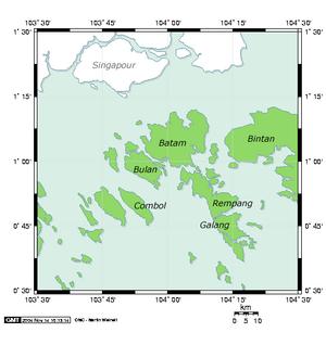 Map of Batam