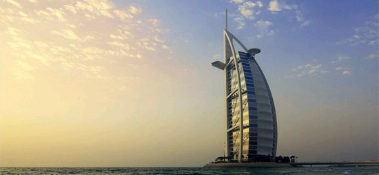 The Burj Al-Arab in Dubai