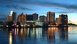 Kuching at night